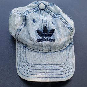 Adidas Blue Denim Patterned Cap
